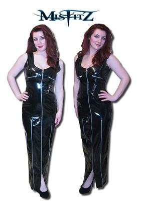 Black Pvc Full Length Dominatrix Dress