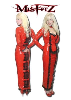 Red Pvc Hobble Strait Jacket Maids